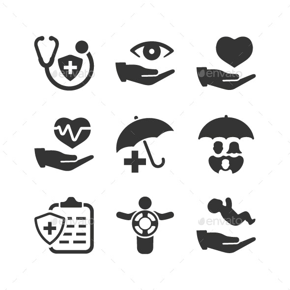 Health Insurance Icons - Web Icons