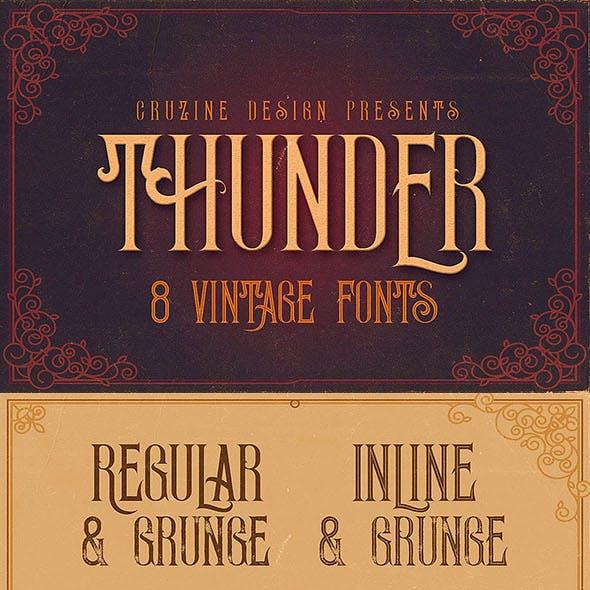 Thunder Typeface