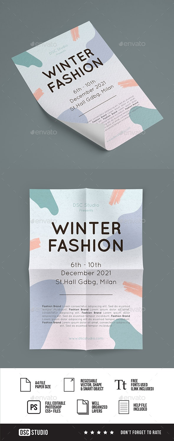 Winter Fashion Flyer - Events Flyers