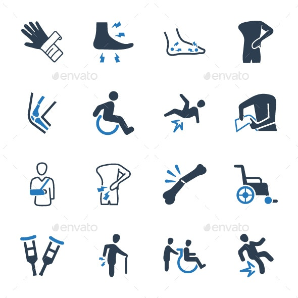 Bone Fracture Icons - Web Icons