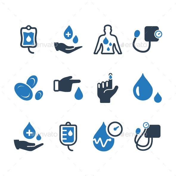 Hematology Icons - Blue Version