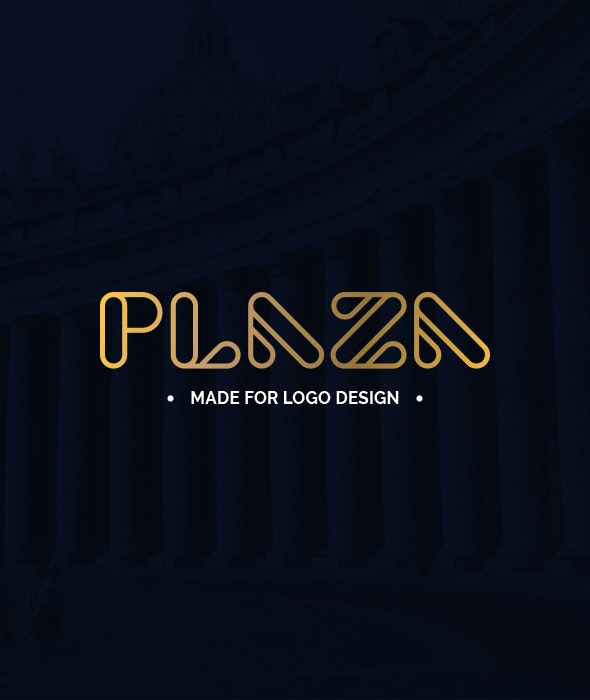 Plaza - Made for Logo Design - Fancy Fonts