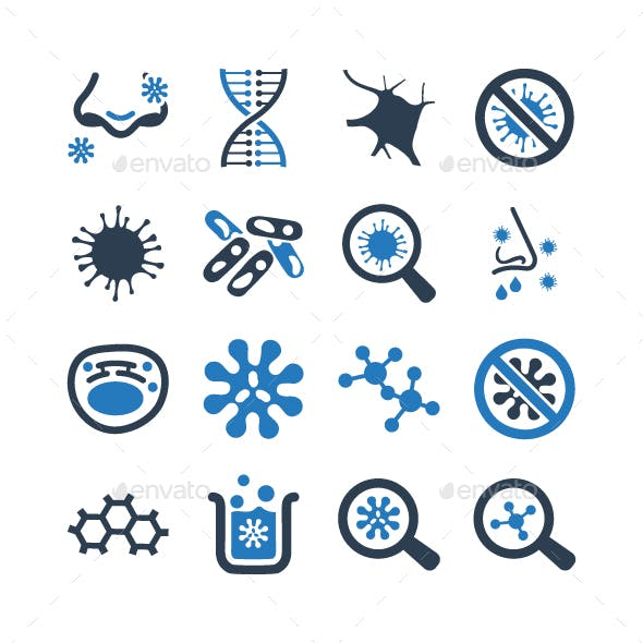 Biology Icons - Blue Version
