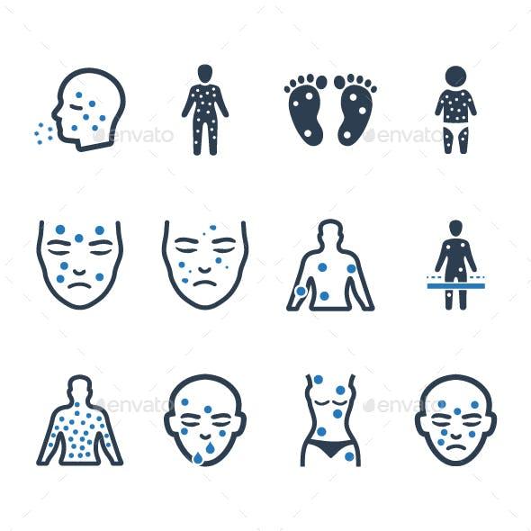Dermatology Icons - Blue Version
