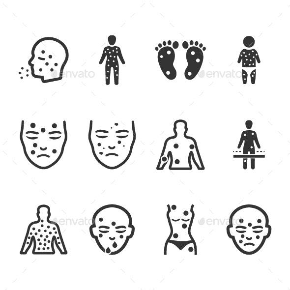 Dermatology Icons - Web Icons