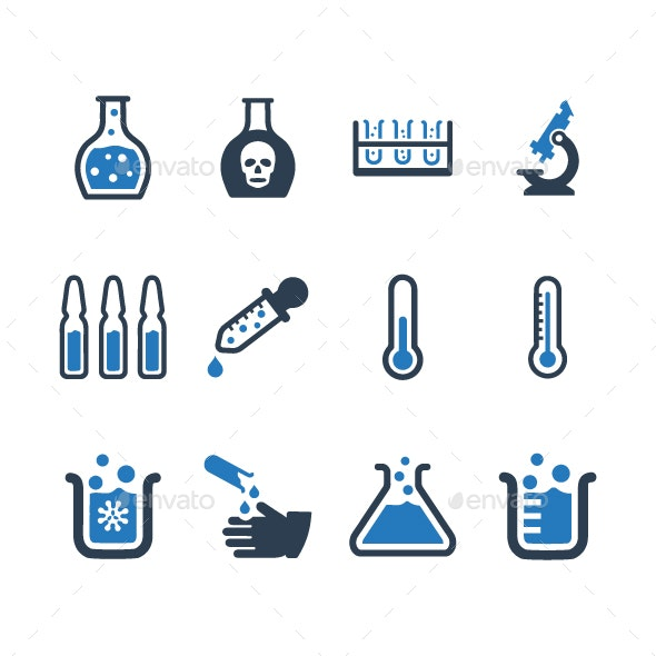 Laboratory Icons - Blue Version - Web Icons