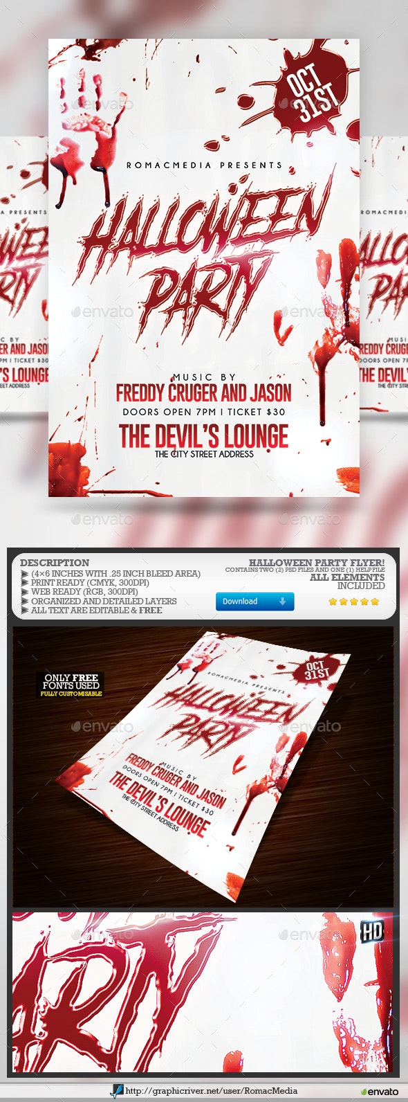 Halloween Bloody Party - Clubs & Parties Events