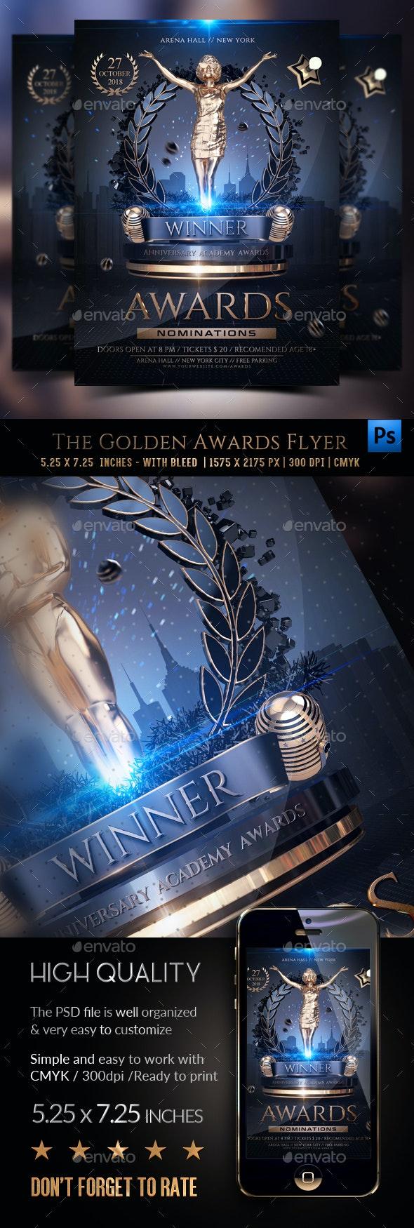 The Golden Awards Flyer Template
