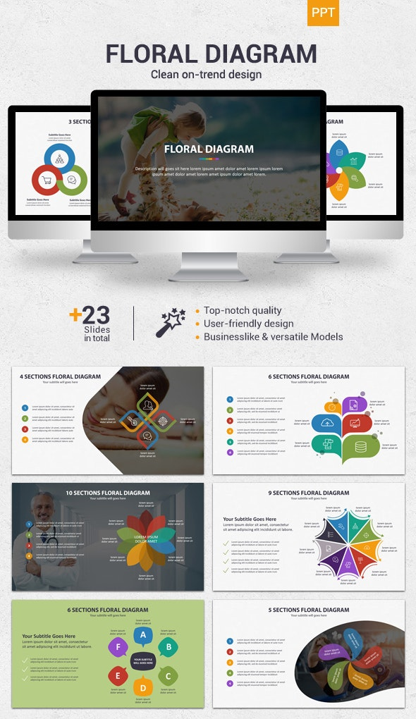 Floral Diagram - Powerpoint - Business PowerPoint Templates