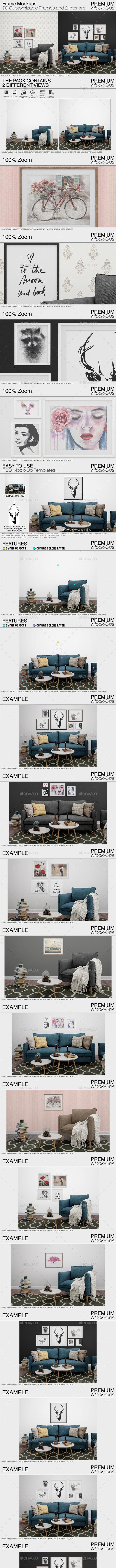 Frame Mockups - Print Product Mock-Ups