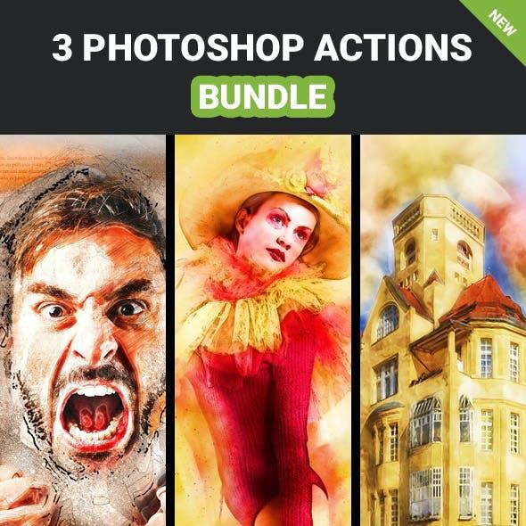 3 photoshop Action Bundle - Vol.6