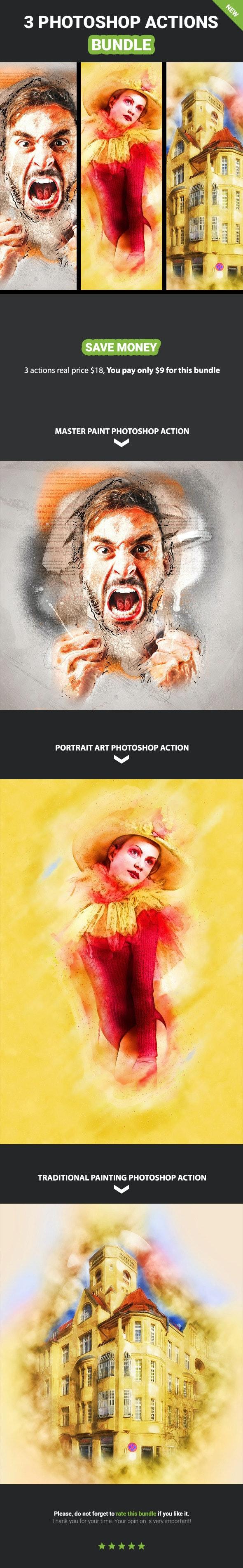 3 photoshop Action Bundle - Vol.6 - Photo Effects Actions