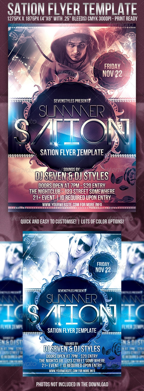 Sation Flyer Template - Clubs & Parties Events