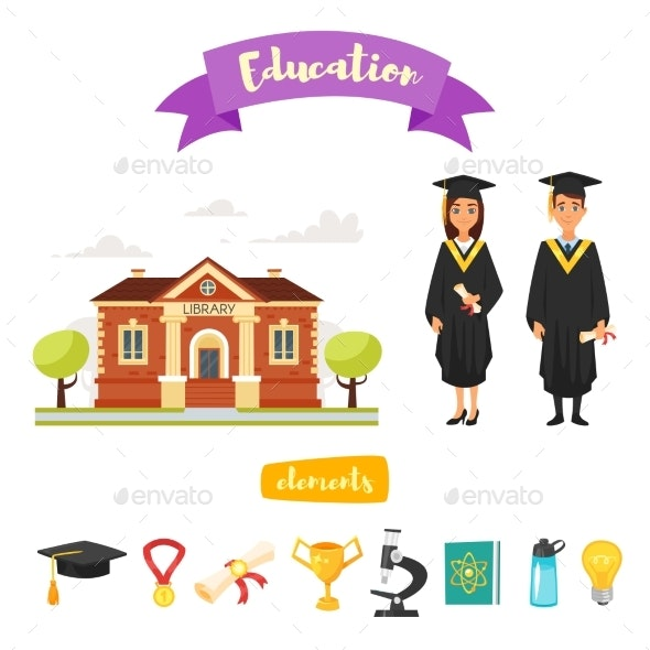Graduation Characters and Icons - Miscellaneous Vectors