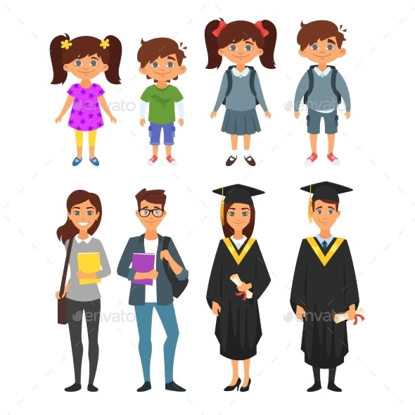 Education Characters - People Characters