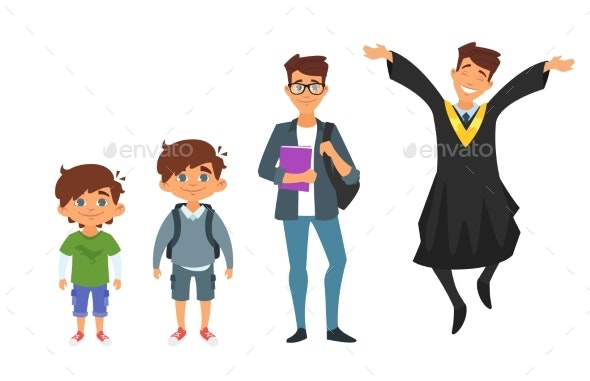 Character From Kindergarten to Graduate - People Characters