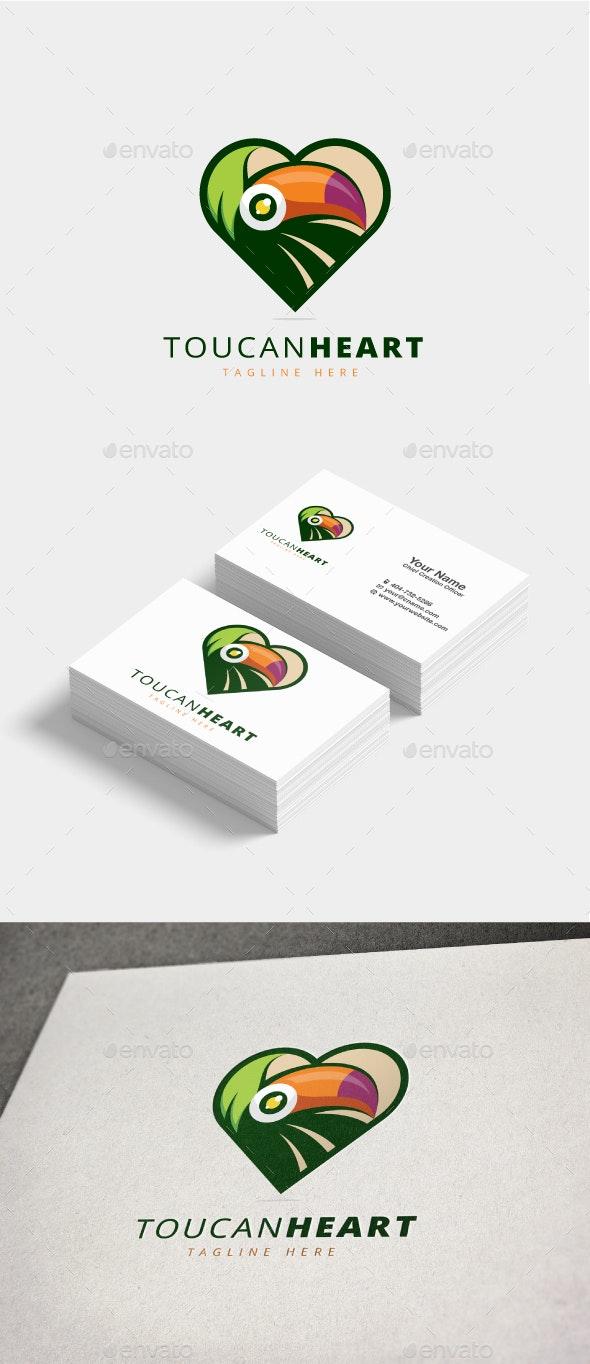 Toucan Heart Logo - Animals Logo Templates