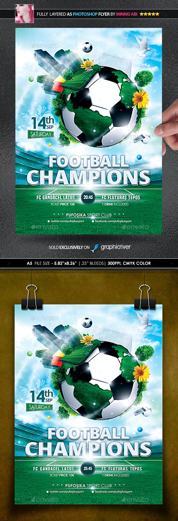 Football Champions Poster/Flyer - Events Flyers