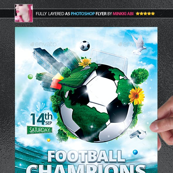 Football Champions Poster/Flyer