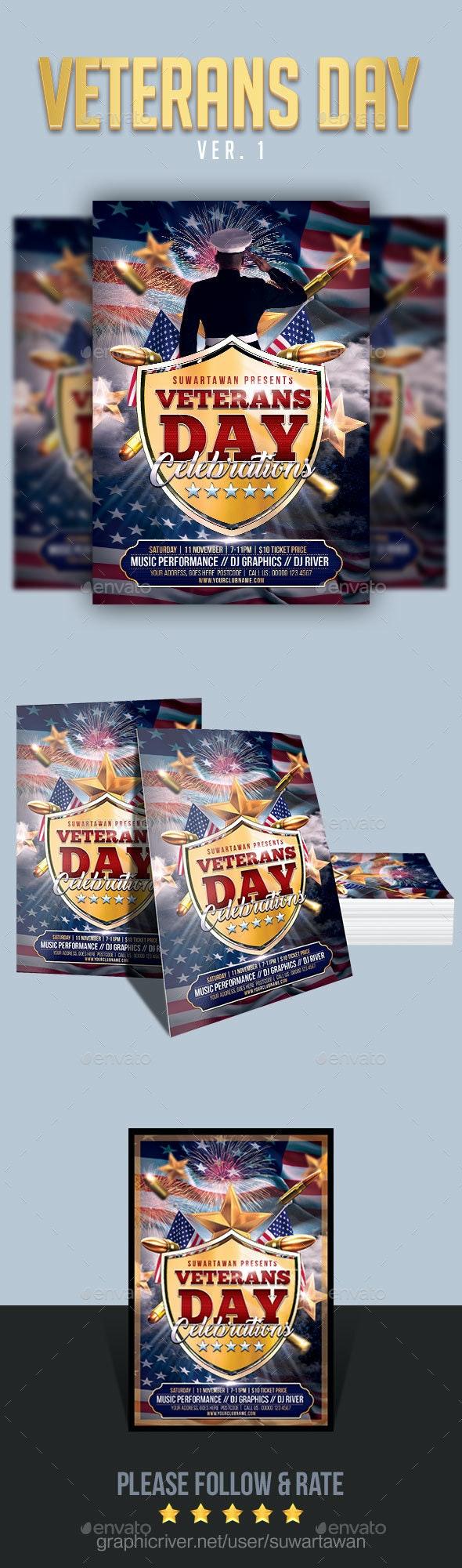 Veterans Day Flyer - Events Flyers