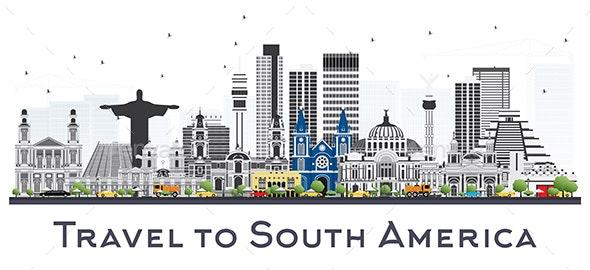South America Skyline - Buildings Objects