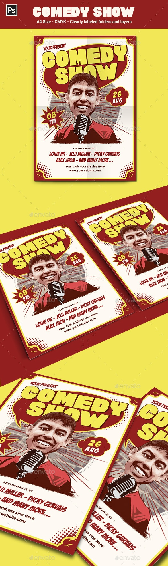 Stand Up Comedy Flyer / Poster Template - Events Flyers