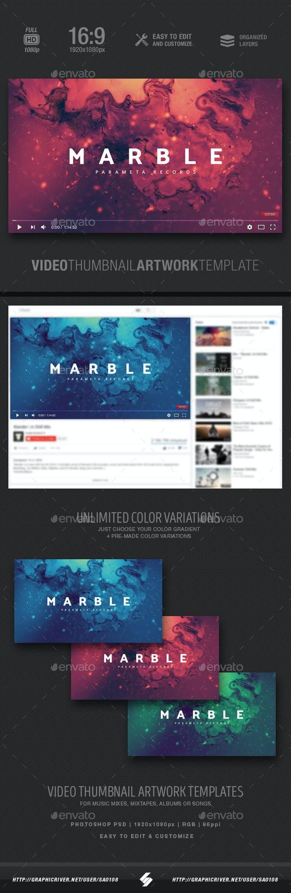 Marble - Music Video Thumbnail Artwork - YouTube Social Media