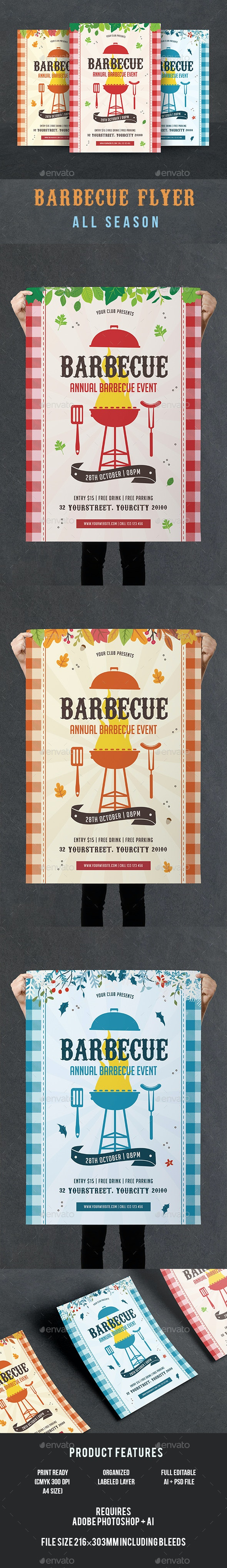 BBQ Flyer - Holidays Events