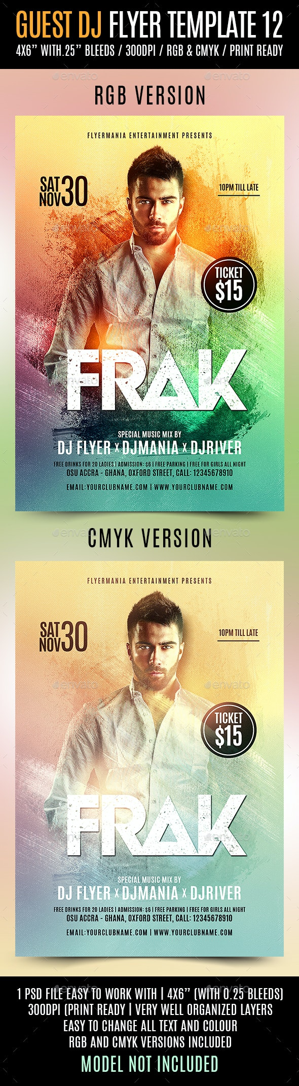 Guest DJ Flyer Template 12 - Events Flyers