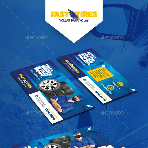 Auto Tires Business Card Templates