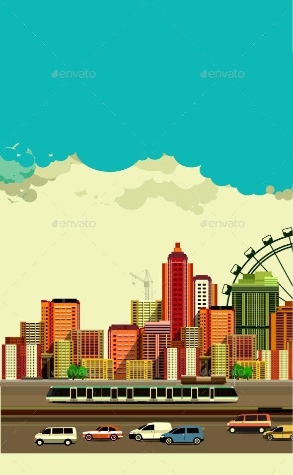 Modern City Landscape - Buildings Objects