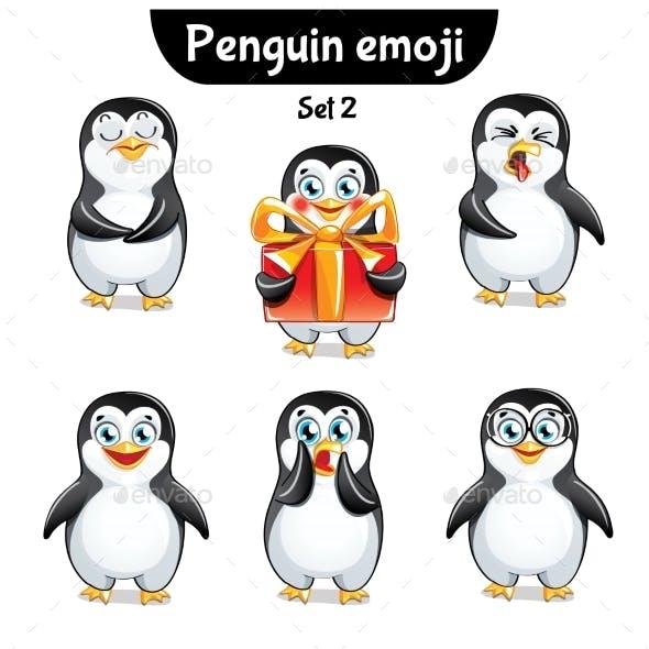Vector Set of Penguin Characters. Set 2