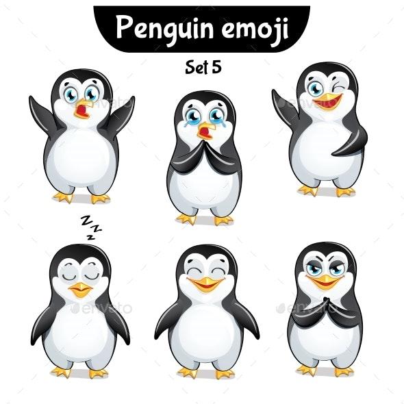 Vector Set of Penguin Characters. Set 5 - Miscellaneous Vectors