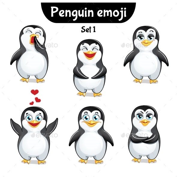 Vector Set of Penguin Characters. Set 1 - Miscellaneous Vectors