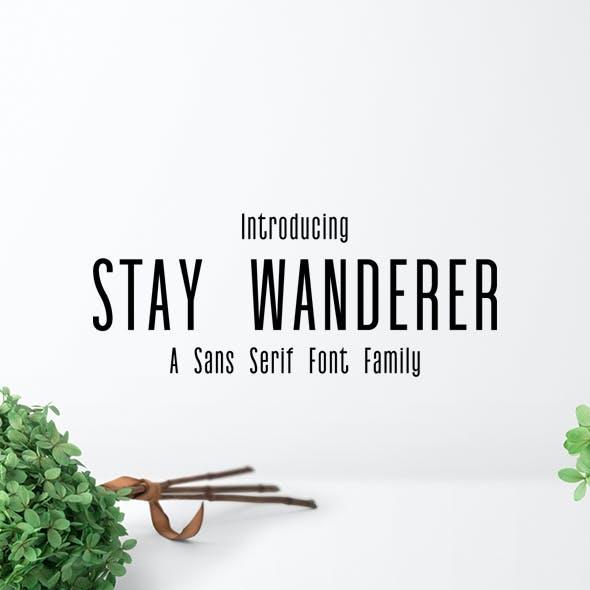 Stay Wanderer 3 Font Family Pack