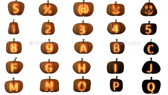 Jack O'lantern Pack - Text 3D Renders