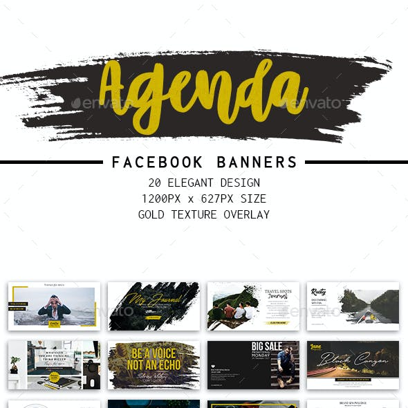 Facebook Agenda Post Banners