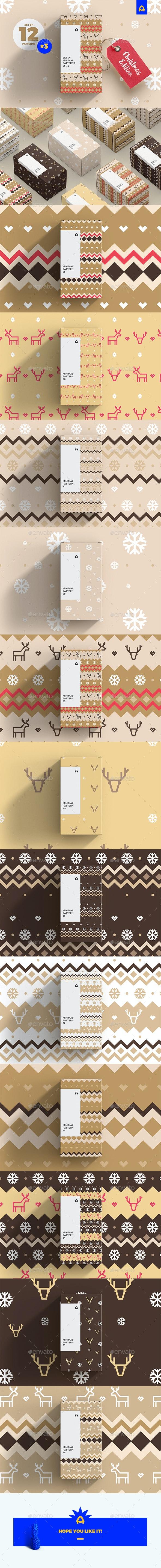 Set of Minimal Christmas Pattern - Patterns Backgrounds