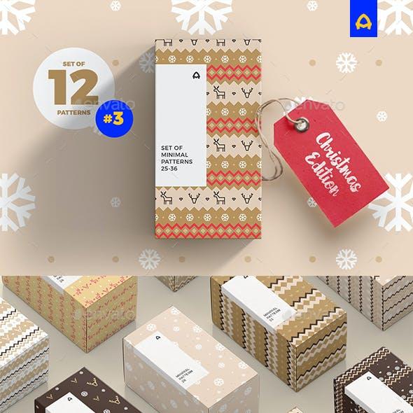 Set of Minimal Christmas Pattern