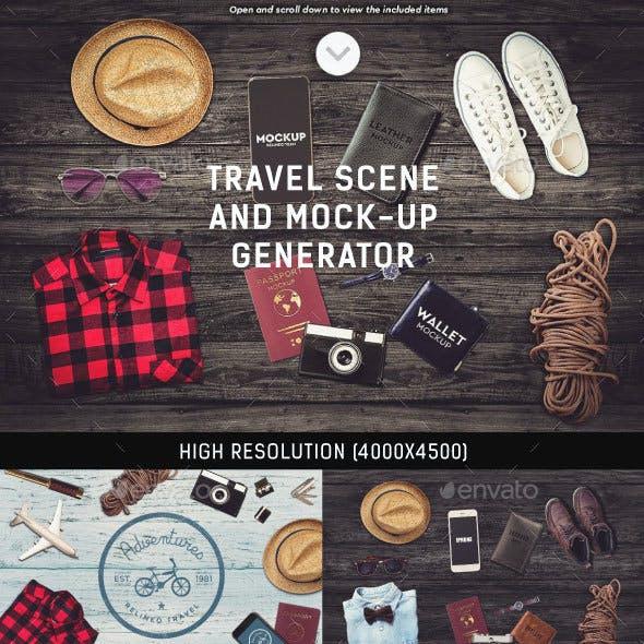 Travel Scene and Mock-up Generator
