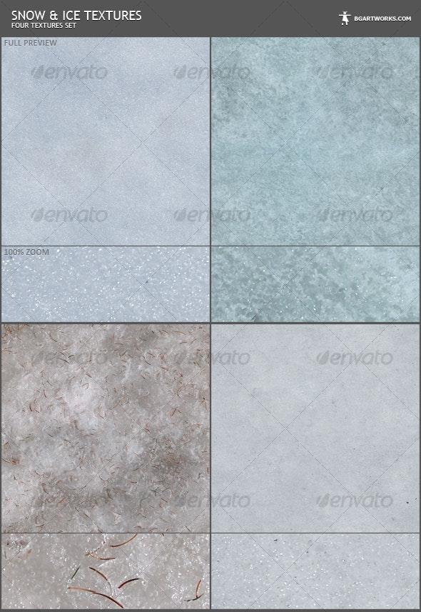Snow Textures Set - Nature Textures