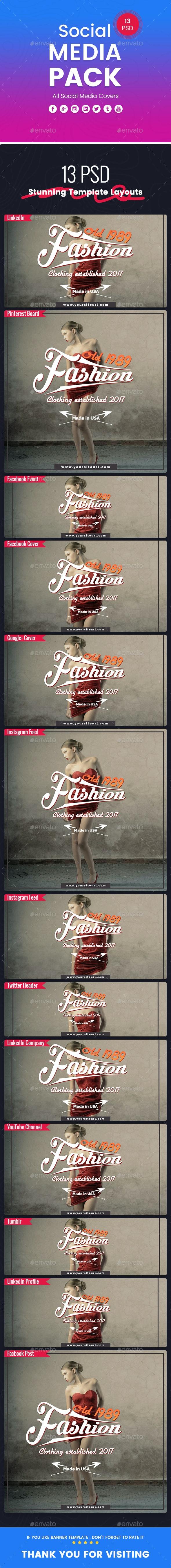 Fashion - Social Media Pack - Social Media Web Elements