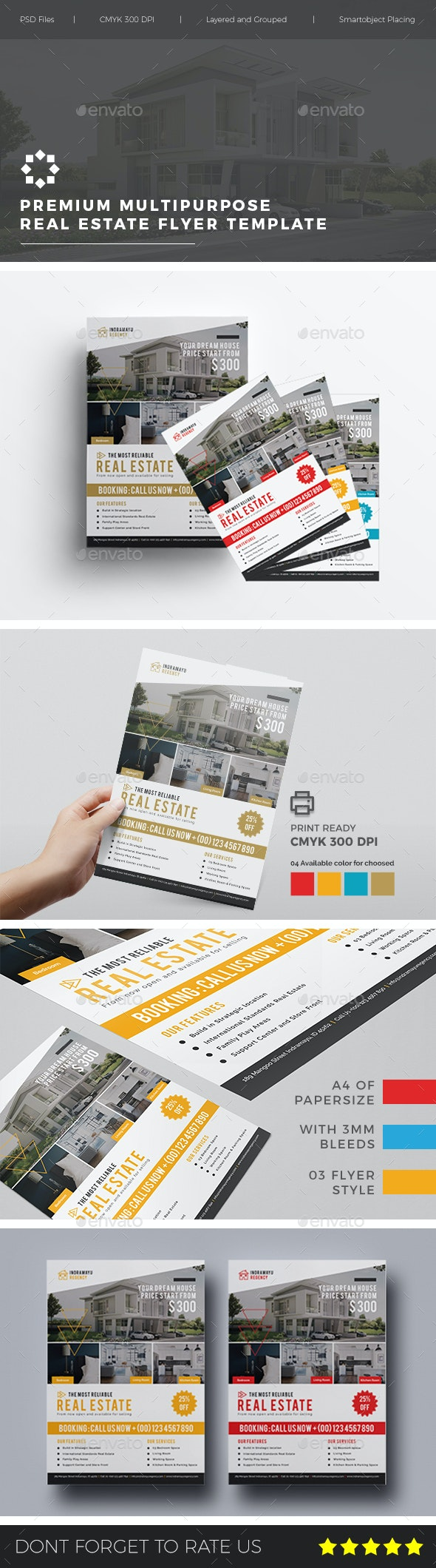 Multipurpose Real Estate Flyer Vol. 01 - Flyers Print Templates