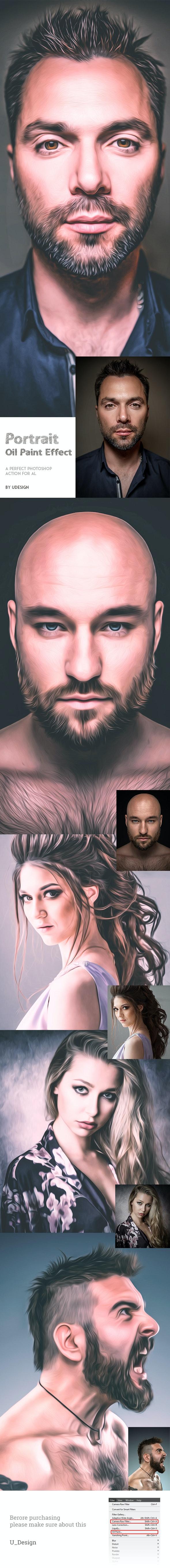 Portrait Oil Paint Effect - Photo Effects Actions
