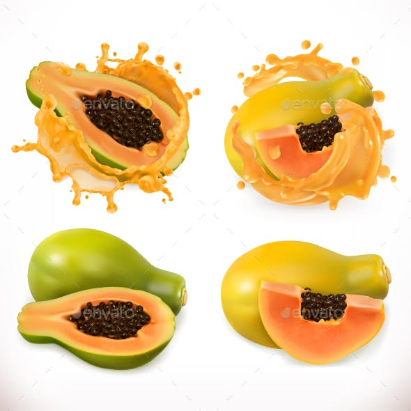 Papaya Juice Fresh Fruit