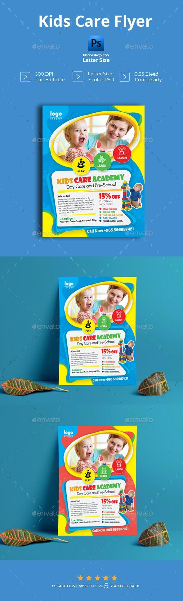 Kids Care Flyer - Flyers Print Templates