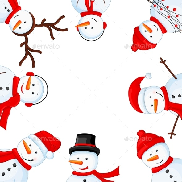 Snowman Border - Christmas Seasons/Holidays
