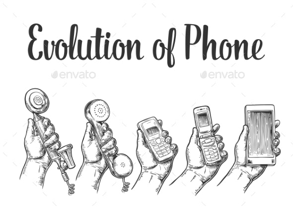 Evolution of Communication Devices by MoreVector