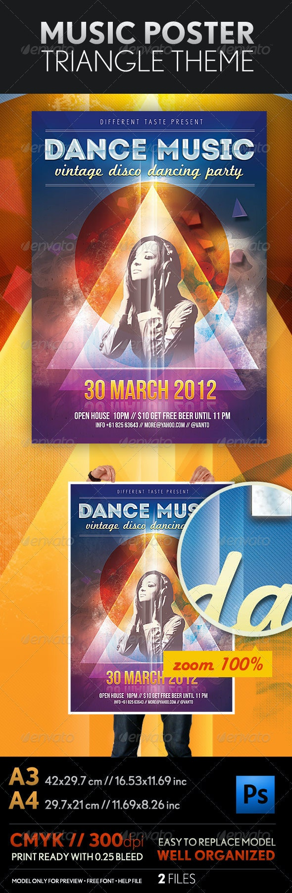 Music Poster A3 and A4  - Events Flyers