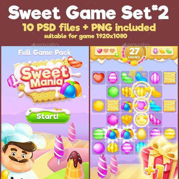 Sweet Match-3 Full Game Pack